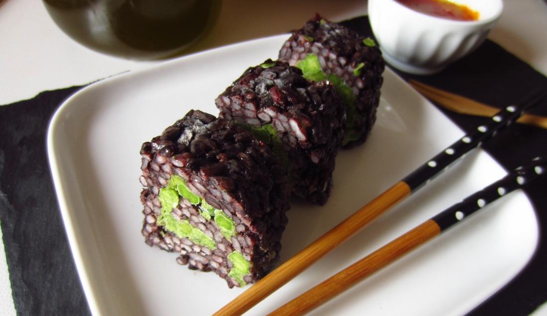 Uramaki di riso nero for Ricette di riso