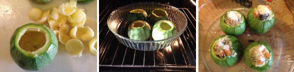 zucchine tonde ripiene di cous cous con verdure proc 4