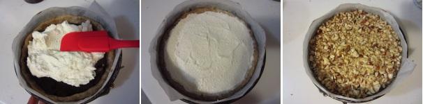 Crostata con la ricotta e crema di nocciole delicata