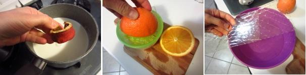 Panna cotta all'arancia procedimento
