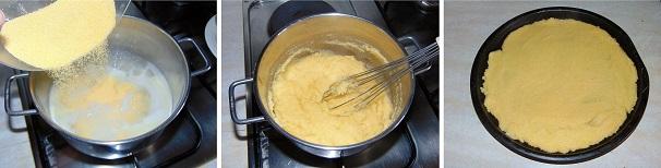 antipasto con polenta veloce e facile