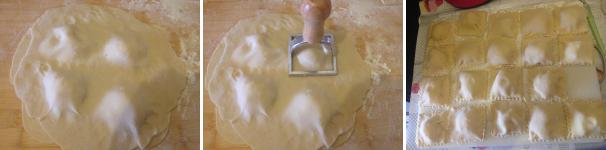 ravioli ripieni di patate e parmigiano conditi con guanciale croccante per 3