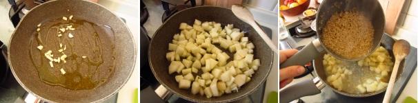 Risotto con pere formaggio e fava tonka delicato