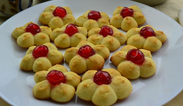 biscotti di frolla montata foto fine proc