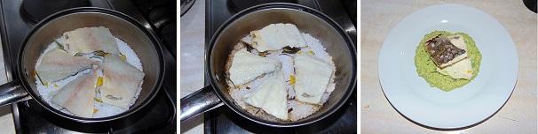 filetti di orata con zucchine preparazione