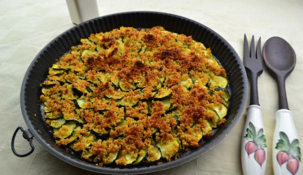 zucchine gratinate foto fine proc