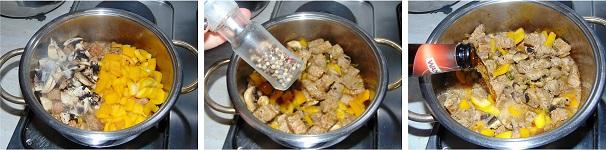 manzo con funghi e peperoni ricetta semplice