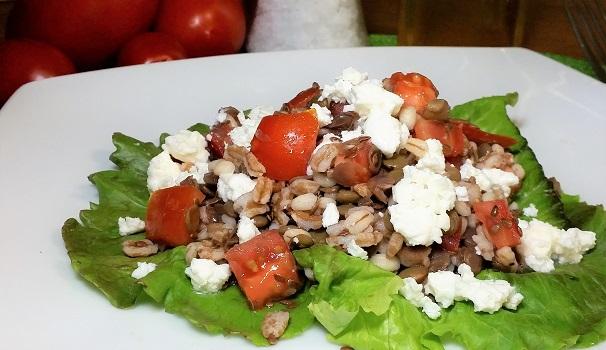 insalata fredda di legumi e cereali
