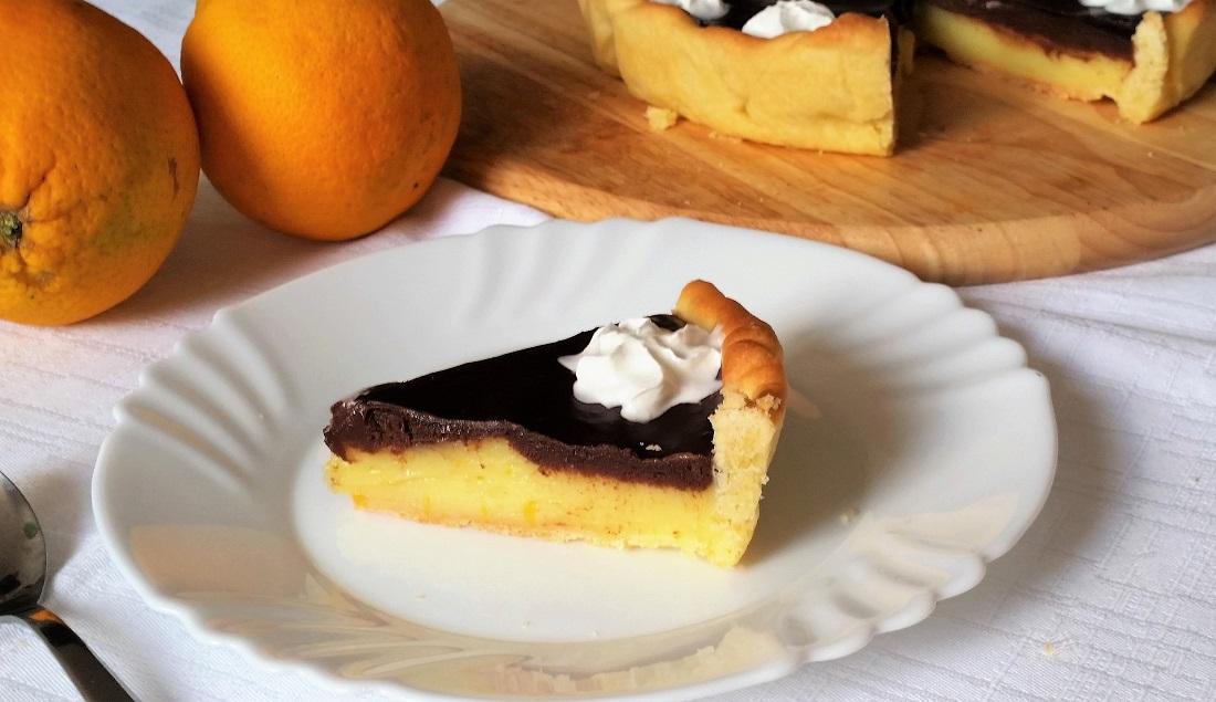 crostata all'arancia e cioccolato