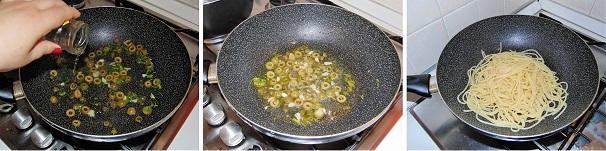 spaghetti con capperi e olive