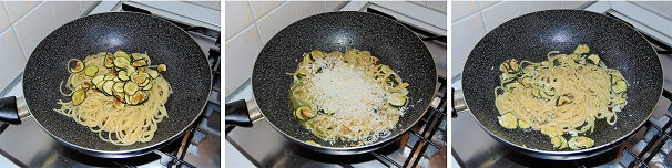 pasta con zucchine e provolone veloce
