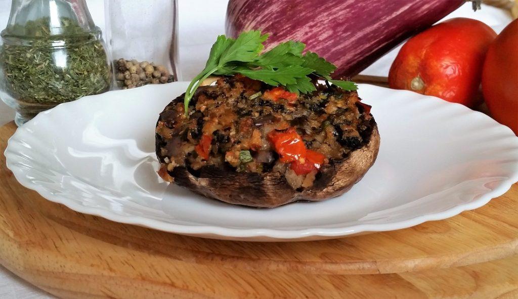 portobello ripieni di verdure