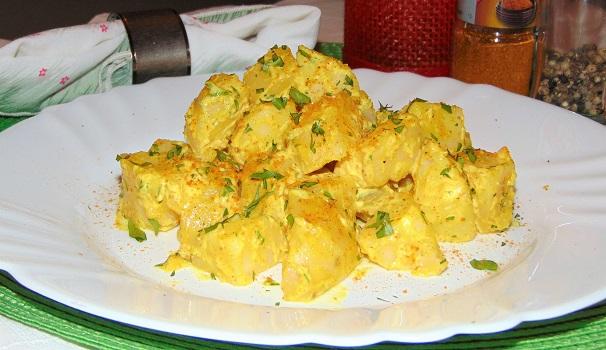 insalata di patate al curry