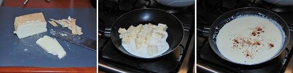 crema di taleggio e funghi facile