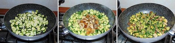 pasta zucchine e funghi vegetariana facile