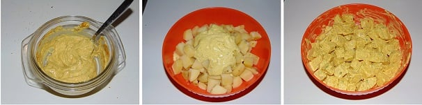 insalata di patate con curry e yogurt facile