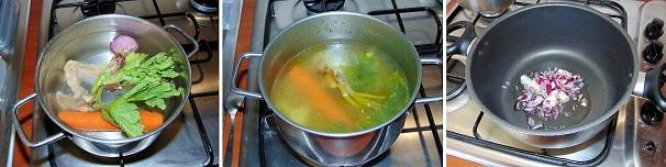 brodo di carne per risotto giallo