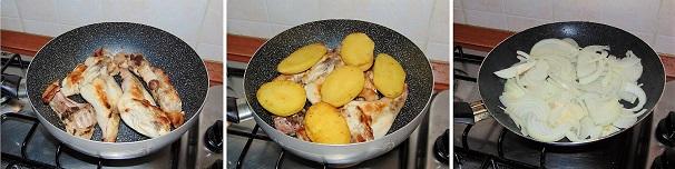 coniglio e patate con vino bianco e cipolle facile
