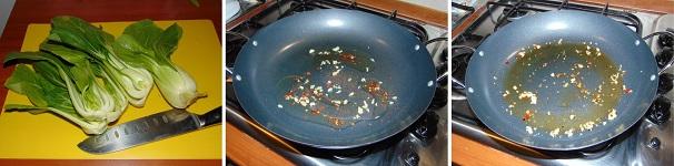 cavolo cinese pok choi pak choy in umido