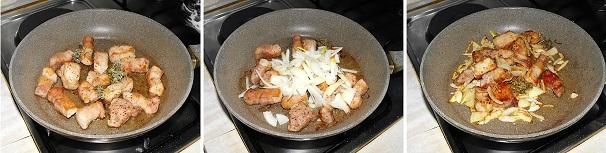 spezzatino veloce di maiale con verdura carciofi vino bianco
