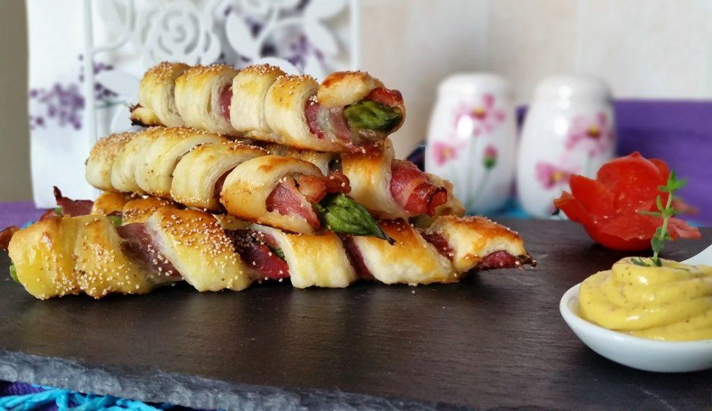 grissini di asparagi e pancetta