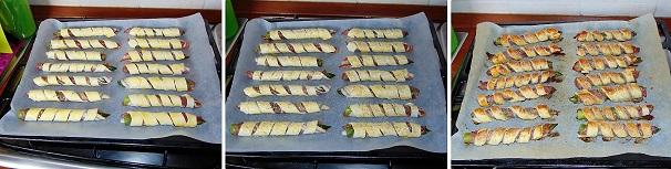 aspari e pancetta antipasto tradizionale veloce grissini morbidi farciti