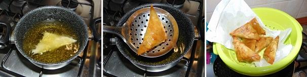 samosa frittura olio di semi asciutta