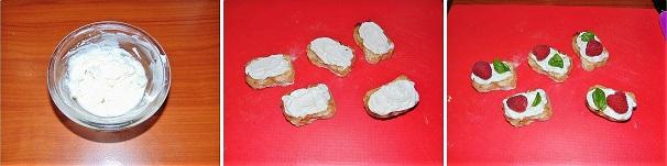 crostini con formaggio e frutta